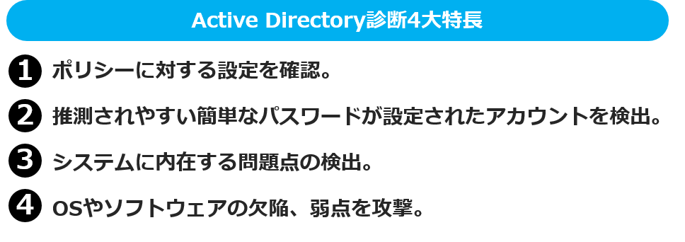 Active Directory診断4大特長